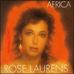 ROSE LAURENS AFRICA - Pochette Disque - Archives BIDARD - LK Avranches Havre Nude Teen X