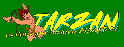 Archives BIDARD - TARZAN - Editions DISNEY