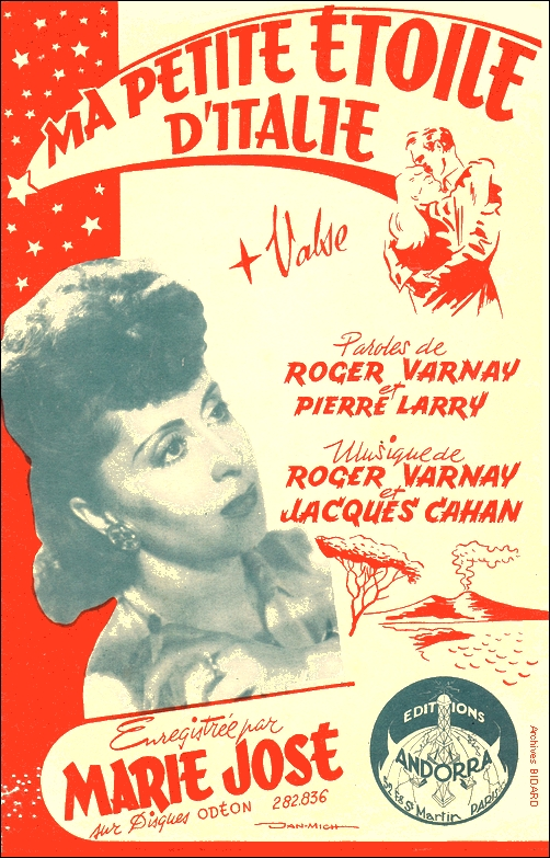 Ma petite etoile d Italie Marie Jose VARNAY LARRY CAHAN Partitions Archives BIDARD.jpg (415381 octets)